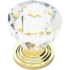 """Liberty Hardware Clear 1.25"""" Acrylic Faceted Knob, P30122-CL-C Walmart"""