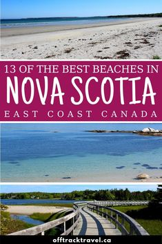 Nova Scotia, Canada, has over of shoreline (more if you include the islands too!) which means hundreds of amazing beaches. We spent seven weeks travelling the length of this beautiful province to find the best. Here is our shortlist of the best beac Solo Travel, Travel Usa, Travel Tips, Travel To Canada, Travel Packing, Italy Travel, Beach Fun, Beach Trip, Beach Travel