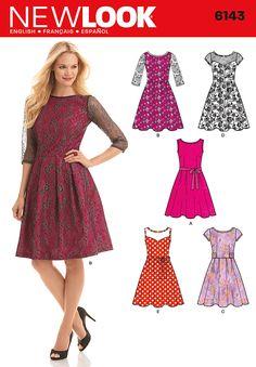 New Look - NL6143 Misses' Dress - WeaverDee.com Sewing & Crafts - 1