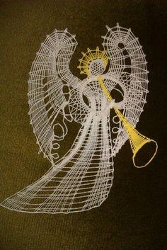 bobbin lace - Angel  christmas
