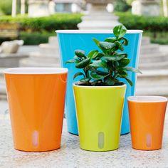 Automatic Self Watering Flower Plants Pot - Small Time Garden Green Plants, Potted Plants, Automatic Watering System, Self Watering Plants, Water Flowers, Potting Soil, Garden Supplies, Irrigation, Garden Pots