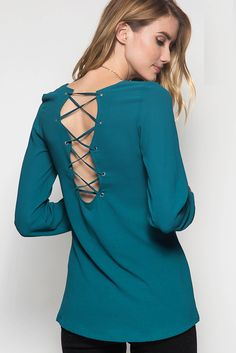 Rule The World Top- Teal from Chocolate Shoe Boutique
