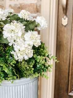 Tutorial on how to arrange and use artificial flowers and plants in outdoor planters. #ABlissfulNest #gardening #outdoorplanters Faux Outdoor Plants, Diy Planters Outdoor, Outdoor Flowers, Faux Plants, Potted Plants, Outdoor Spaces, Outdoor Decor, Front Door Plants, Porch Plants