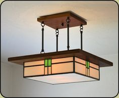 Arts and Crafts Style Light Fixture. $635.00, via Etsy. I want this so badly.