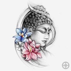 Tattoo Designs Gallery of Artwork and Videos dessins de tatouage 2019 dessins de tatouage 2019 Budha with Colourful Lotus Flowers Tattoo dessins de tatouage 2019 Mandala Tattoo Design, Buddha Tattoo Design, Tattoo Designs, Trendy Tattoos, New Tattoos, Body Art Tattoos, Sleeve Tattoos, Ganesha Tattoo Sleeve, Hand Tattoos