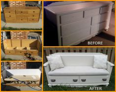 Instead of discarding your old dresser, why not give it a new life by turning it into a bench? Check out the full album to know how you can make your own http://theownerbuildernetwork.co/dxh3 Do you have an old dresser you can use for this project?