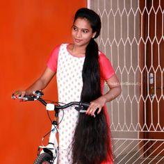 Indian Long Hair Braid, Long Hair Ponytail, Ponytail Updo, Braids For Long Hair, Ponytail Hairstyles, Girl Hairstyles, Bun Hair, Beautiful Girl Indian, Most Beautiful Indian Actress