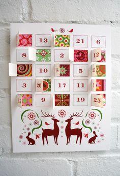 Reindeer Advent Calendar – JHill Design Map Prints