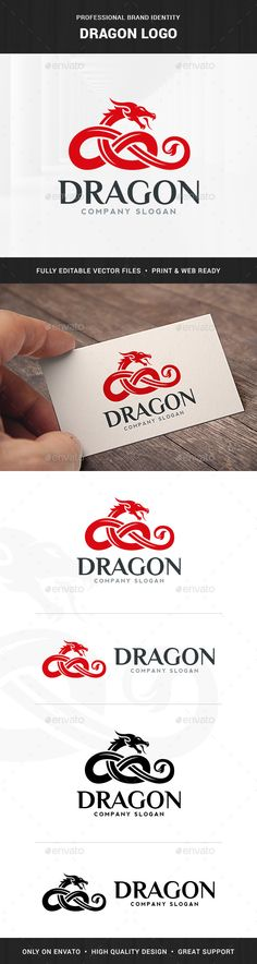 Buy Dragon Logo Template by LiveAtTheBBQ on GraphicRiver. The Dragon Logo Template A creative and unique logo featuring a celtic dragon. All elements are fully vector and can . P Logo Design, Logo Design Template, Logo Templates, Letterhead Template, Brochure Template, Flyer Template, Unique Logo, Cool Logo, Logo Dragon