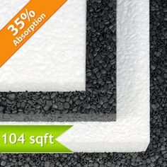 Quiet Board Acoustic Panel: - a unique, water resistant acoustic panel that absorbs and deflects sound equally. It is perfect for areas that need a temporary noise reduction barrier due to its rigid composition of compressed, small cylinder shaped beads, similar to Styrofoam.  Available in multiple sizes and thicknesses.