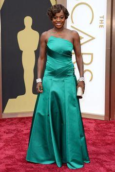 Viola Davis wearing Escada - 2014 Oscars
