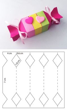 Diy Geschenk Basteln - Caja con forma de dulce - - box a offrir Diy Geschenk Basteln - Caja con forma de dulce - - Diy Gift Box, Diy Box, Diy Gifts, Gift Boxes, Paper Crafts Origami, Diy Paper, Origami Ideas, Wrapping Ideas, Gift Wrapping