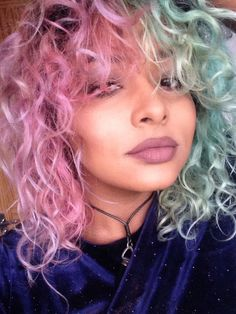 pink and mint hair