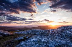 Last Rays. A great sunset from the top of Foss Mountain in Eaton, NH