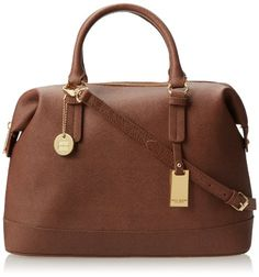 Tommy Hilfiger Heritage Flag Tag Saffiano Bowler Top Handle Bag,Chestnut,One Size - http://clutches-handbags-shoes.com/2014/03/tommy-hilfiger-heritage-flag-tag-saffiano-bowler-top-handle-bagchestnutone-size/