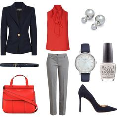 A fashion look from March 2017 by rubyslippersstyling featuring Glamorous, Balmain, Jil Sander Navy, Jimmy Choo, Tory Burch, Kate Spade, Ted Baker, Liebeskind,... Corporate Style, Ruby Slippers, Business Outfits, Jil Sander, Balmain, Ted Baker, Jimmy Choo, What To Wear, Tory Burch