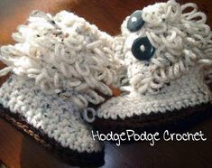 Loopy Baby Booties Free Crochet pattern