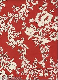 red damask home decor fabric - Google Search
