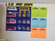 Reading Groups for Superhero Classroom Theme
