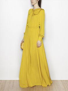 Hoss Intropia yellow fluid maxi dress