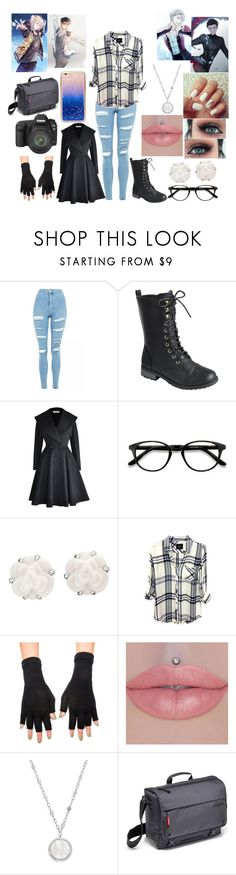 """Photographing Yuri, Viktor, Yurio, and Otabek"" by teenaged-aliens ❤ liked on Polyvore featuring Topshop, Forever Link, EyeBuyDirect.com, Chanel, Rails, American Apparel, Honora, Eos, Manfrotto and Forever 21"