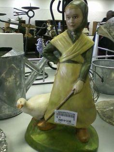 Goose girl figurine
