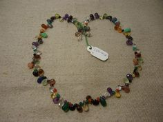 "Natural Multi Stone Multi Shape Faceted 17"" Beads Fancy Necklace, 118 Cts…"