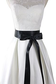 Simple classic colorful ribbon sash for daily dress formal and wedding dress (Black) >>> Find out @ http://www.amazon.com/gp/product/B00YML58L4/?tag=passion4fashion003e-20&za=250716014352