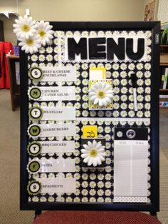 Menu Board - Create weekly meals right at your finger tips!
