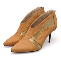 63.18$  Buy here - http://ali8e8.worldwells.pw/go.php?t=32757586310 - 2017 Size 34-41 Genuine Leather Patchwork Suede High Heels Spring Autumn Women Boots Ankle Ladies Shoes Woman Chaussure Femme 63.18$