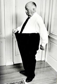 The stars are ageless, aren't they? - Alfred Hitchcock photographed in 1974 by Philippe Halsman