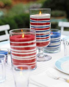 Easy Sand Candles for Memorial day ~ Crafts ~ DIY ~