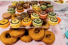 Bike tire macarons and doughnuts from a Bike Themed Birthday Party on Kara's Party Ideas   KarasPartyIdeas.com (23)