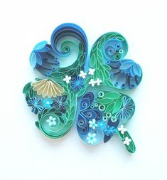 Four leaf clover quill