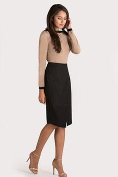 Skirt Outfits Modest For Business Women 2019 40 Fall Business Attire, Business Casual Outfits For Work, Fashion Business, Business Outfits Women, Business Dresses, Business Women, Corporate Outfits For Women, Women Work Outfits, Business Clothes