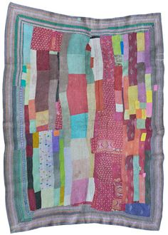 Japan - NUIE (patchwork) Exhibition - old indian fabrics, stitched & embroidered