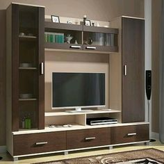 Modern Minimalist TV Desk Design Talking about decoration, room decoration becomes the most important part in beautifying the appearance of your home. Some electronic equipment and room furniture b… Design Room, Tv Wall Design, Door Design, Tv Unit Decor, Tv Wall Decor, Wall Tv, Tv Unit Furniture Design, Tv Wall Furniture, Simple Furniture