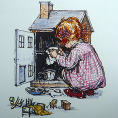 """""""My  Naughty Little Sister: A Treasury Collection"""" written by Dorothy Edwards and illustrated by Shirley Hughes  (http://littlejennywren.blogspot.com/2011/01/my-naughty-little-sister.html)"""