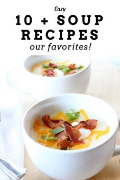 Easy Soup Recipe Ideas Our favorite Soup Recipes - Quick and easy ideas for meal time. Easy Soup Recipes, Tart Recipes, Cheesecake Recipes, Easy Healthy Recipes, Healthy Soups, Yummy Recipes, Easy Desserts, Dessert Recipes, Dinner Recipes