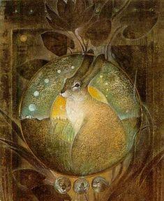 Goddess Knowledge Cards - The Hare Illustrations de Susan Seddon Boulet