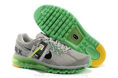 the best attitude 6a643 fdd63 Nouveau Gris Vert Noir Hommes Chaussures Nike Air Max 2013 LG Hive Nike Air  Max Running