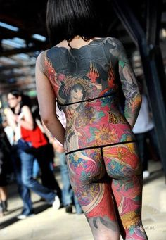 Note floral design - Yakuza tattoo 10