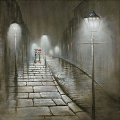 Cobbled Together - a signed limited edition canvas on board by popular nostalgic artist Bob Barker.