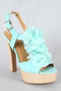 cute teal heels