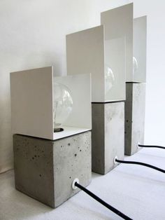 CONCRETE LIGHT by SEBASTIAN REYMERS favorited by LIGHTBOX AMSTERDAM More #ConcreteLamp
