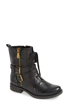 Free shipping and returns on Naturalizer 'Bravery' Boot (Women) at Nordstrom.com. A lace-up boot with a cool, weathered look is styled with a belted shaft and built with signature N5 technology for lasting comfort.