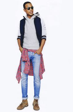Early Summer Style–Photographer Tom Schirmacher shoots model Conrad Bromfield for a new style spread in GQ's May issue. Featuring styles for an early summer… Gq Style, Gq Mens Style, Mens Fashion Blog, Men's Fashion, The Fashionisto, African Models, Gq Magazine, Floral Print Shirt, Streetwear Brands