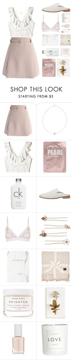 """""""Romantic"""" by hiddlescat ❤ liked on Polyvore featuring Chicwish, Shop Latitude Bazaar, Hollister Co., Calvin Klein, Free People, Accessorize, UGG, Herbivore, Tommy Mitchell and Essie"""