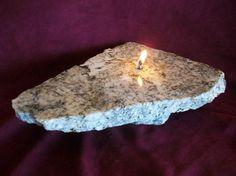 Rock Oil Lamp/Granite
