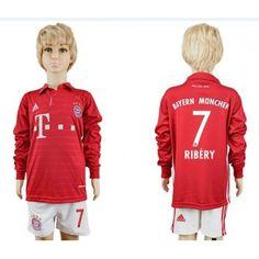 Marvelous Kinder Fussball Trikot Bayern Munich Ribery Heim Trikotsatz langarm